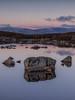 Conclude (raymond_carruthers) Tags: lochannahachlaise scotland winter argyllbute reflections lochs rannochmoor blackmount sunsetcolours mountains sunset