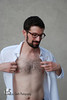 Alex (Levi Smith Photography) Tags: white oxford business shirtless hair chest hairy man glasses nerd chic beard handsome brunette abs face hot guy dude mens fashion