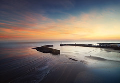 Donaghadee (Kyle TKT) Tags: donaghadee pier sky water sea mornin colour rnli drone yuneec 500 ocean sunrise northernireland lighthouse boat clouds horizon explore