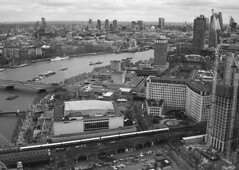 London from above (DH73.) Tags: london eye south bank river thames royal festival hall national theatre lwt stpauls cathedral panorama cityscape high rise railway southeastern minolta dynax 7000i 3570mm f4 macro lens ilford delta 400 id11