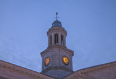 Bell Tower at Dusk (BFru) Tags: dusk american usa government town madison new jersey blue bell sunset hour