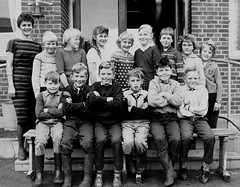Class photo (theirhistory) Tags: children boy kids school group form girls teacher dress trousers jumper shoes wellies boots