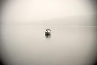 Boat in the mist.