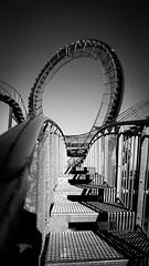 Stairs (stevengadalski) Tags: abstrakt architektur weis schwarz 16mm 6000 alpha sony schwarzweis blackandwhitephotography blackandwhite treppen duisburg ruhrpott