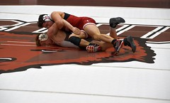 BRO-STA 141 2018-01-13 DSC_8081 (bix02138) Tags: brownuniversity brownbears stanforduniversity stanfordcardinal pizzitolasportscenter pizzitolasportscenterbrownuniversity providenceri january13 2018 wrestling sports intercollegiateathletics athletes jocks ©2018lewisbrianday 141pounds 141 isaiahlocsin jimmypawelski