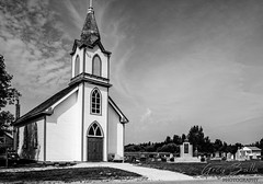 Hecla Church (Greg B Photography) Tags: church heclaisland lakewinnipeg interlake bw