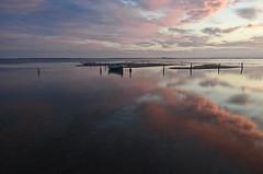 Entre dos cels, _DSC3564 (Francesc //*//) Tags: cel cielo heaven ciel paisaje paisatge paysage landscape marina reflex reflejo reflejos reflexes reflections deltadelebro deltadelebre
