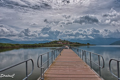 (Stratos28) Tags: westmacedonia greece tradition lake prespes d750 clouds dramatic sky bridge pedestrian water landscape