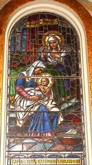 Sts. Cyril and Methodius Woman in Blue Holding Baby Jesus (Jay Costello) Tags: stscyrilandmethodiusukrainiancatholicchurch stscyrilandmethodius ukrainian catholic church god worship religion stcatharineson stcatharines ontario canada on ca jesus babyjesus blue