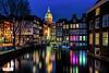 Amsterdam vanaf de Armbrug (Reina Smallenbroek) Tags: reinasmallenbroek amsterdam nightshot avondfotografie water citylights cityscape netherlands canonnederland