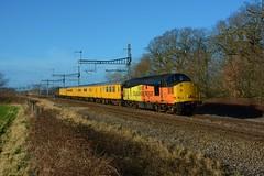 37116. Uffington. 25-01-2018 (*Steve King*) Tags: uffington class 37 37116 colas network rail test train