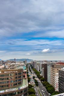 Hakata warehouse rooftop view