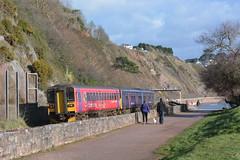 153325 150120 Spray Point, Teignmouth 09/02/18 (yamdood91) Tags: 150 153 153325 2018 class fgw first great western railway teignmouth spray point sea wall 150120