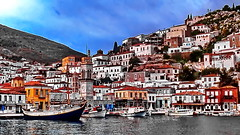 Greece, Hydra Island (gerard eder) Tags: world travel reise viajes europa europe greece grecia griechenland hydraisland hydra hellas boats boote barcas village villagelife city ciudades cityscape cityview puerto harbour hafen harbor landscape landschaft paisajes panorama sea seascape outdoor