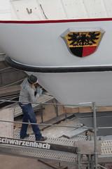 Schiff MS Berner Oberland ( Baujahr 1996 - Länge 57 m - Passagiere 1000 ) in der Werfthalle Thunersee ( Baujahr 2017 - 2018 ) bei Thun im Berner Oberland im Kanton Bern der Schweiz (chrchr_75) Tags: hurni christoph chrchr75 chriguhurni februar 2018 schweiz suisse switzerland svizzera suissa swiss albumzzz201802februar albumregionthunhochformat thunhochformat hochformat albummsberneroberland motorschiff fahrgastschiff schiff schifffahrt ship bateau revision umbau werft unterhalt ms berner oberland thunersee kantonbern kanton bern albummotorschiffmsberneroberland nave