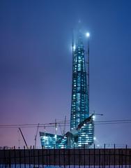 Lahta Centre spire (Vladimir Kochnev) Tags: spire lahta sky panorama