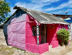 Little Pink House for You and Me (krossbow) Tags: gate1travel g1photofriday gate1 colombia photolemur travel southamerica vacation tour trip cartagena cartagenadeindias laboquilla boquilla village panasonic lumix tz90 zs70