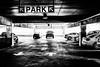 Parking garage (rickmcnelly) Tags: truck x100f bw garage car