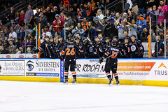 """Kansas City Mavericks vs. Florida Everblades, February 18, 2018, Silverstein Eye Centers Arena, Independence, Missouri.  Photo: © John Howe / Howe Creative Photography, all rights reserved 2018 • <a style=""""font-size:0.8em;"""" href=""""http://www.flickr.com/photos/134016632@N02/40387903671/"""" target=""""_blank"""">View on Flickr</a>"""