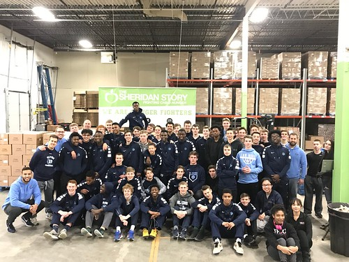 Blaine High School B-ball team/DOTC Trio Upward Bound Packing Event 2/19/18