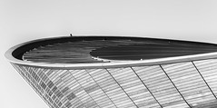 Wings on the Velodrome (Paul K Martin) Tags: uk olympicpark stratford velodrome london 2012 olympics paralympics mono monochrome sport cycling abstract buildings