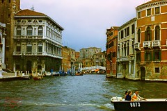 Grand Canal, Venice (Jurek.P) Tags: venice wenecja kanał canalgrande water architecture scan slide 35mm prakticasupertl italy europe jurekp
