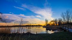 Icy Sunset (FotoCorn) Tags: sunset zonsondergang sun ice natuur nature middendelfland