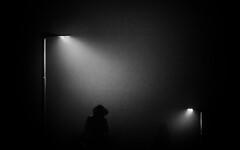 On the way home (jfsouto) Tags: backlit backgrounds blackcolor bromley electriclamp england gb illuminated lightnaturalphenomenon lightingequipment people spotlit spotlight street streetlight uk urbanscene dark night silhouette woman unitedkingdom