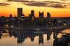 Silhouette Of A City (Brad Truxell) Tags: hdr exposureblending pittsburgh threerivers steelcity city westendoverlook sunrise nikond7000