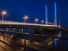 Puente Jacques Chaban Delmas. Bordeaux. Hora azul. (RosanaCalvo) Tags: bordeaux francia jacques arquitectura horaazul luces puente rio
