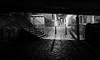Dodgy (avaird44) Tags: dodgy underpass street lane cobbles aberdeen night scotland bw blackandwhite secluded