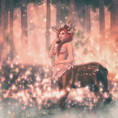 🍎 oh deer (Apple aka Ossia) Tags: maitreya catwa atomic conviction tentacio psychobyts anc skye half deer second life secondlife sl blogger blogging blog event epiphany portrait photography photograph photoshop ginger redhead freckles fantasy forest surreal