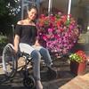 amp-1539 (vsmrn) Tags: amputee woman onelegged crutches wheelchair