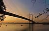 Seeing is believing, but feeling is the truth. - Thomas Fuller (Abeer!) Tags: sunset princepghat ghat kolkata westbengal bengal ganga bridge boat abeer abeerbarman india sky river water dusk
