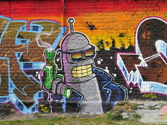 Graffiti in Brick Lane area, Shoreditch (Ian Press Photography) Tags: graffiti street art streetart london shoreditch brick lane bender futurama