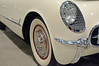 Grilled Light - 54 Corvette detail (Brad Harding Photography) Tags: chevy chevrolet corvette vette detail closeup 1954 54 whitewalls chrome grille headlight headlamp spokes