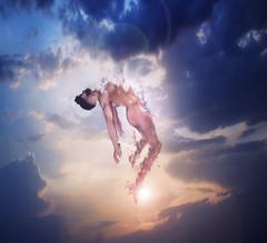 Surrender (Brinsen) Tags: nude male handsome conceptual fine art expressive emotion flying floating levitate sl