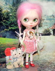 Happy Valentine's Day to my sweet friends. 💕💕💕 (The doll keeper) Tags: braids strawberry shortcake blythe alpaca pink hair doll