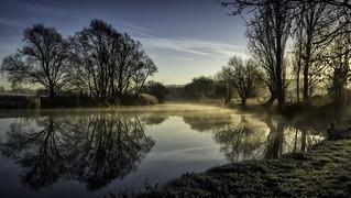 Winter mist on the Avon