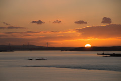 Sunset over the Three Bridges (Bill Cumming) Tags: fife kinghorn riverforth sunset