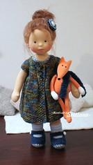 Melissa with little fox (SvetlanaKonyaeva) Tags: dolls doll toy toys handmade fabric steiner waldorf stoffpuppe stoffpuppen puppe puppekind puppen baby child