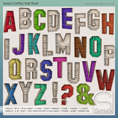 Sway's [Letter] Wall Shelf | Key | The Arcade (Sway Dench / Sway's) Tags: arcade gacha furniture az letter shelf