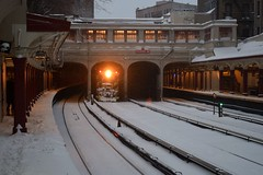 Waiting Out the Storm (CrispyBassist) Tags: railroad railway train track transit subway brooklyn bmt brightonline nyc nyct nycta newyorkcity newyork newyorkcitysubway newyorkcitytransit snow snowstorm
