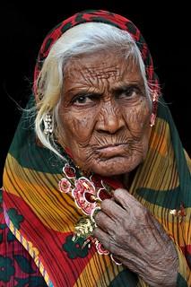Old woman Rabari