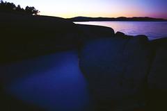 (Frank S. Schwabe) Tags: sunset sea shore ice winter kvalvik frei kristiansund nordmøre norge norway rocks evening