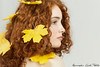 Sweet redhead (Alessandro Guidi 1985) Tags: alessandroguidifotografo photo photography studio shooting light portrait face model girl teen young woman beauty beautiful glam glamour eyes freckles red hair redhead curly mouth cute sweet white shy leaf leaves yellow autumn