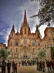 Barcelona Cathedral...💒 (carlesbaeza) Tags: cathedral barcelona catalunya catalonia monument gotic gòtic love europe travel turistic