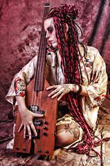 Geisha on Bass 01 (RickB500) Tags: portrait girl rickb music guitar bass geisha