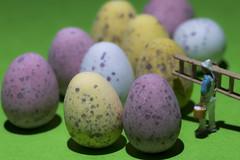 Speckled - Macro Mondays (Crisp-13) Tags: speckled macromondays macro mondays cadburys mini eggs pink yellow white noch maler ho 15056 painter decorator ladder
