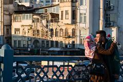Bridge love (alejo.365shoots) Tags: blackandwhite bw love bridge people woman man istanbul streetphotography
